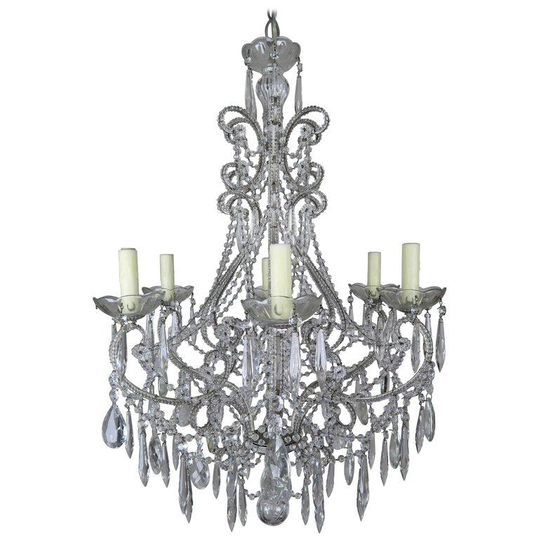 Italian Style Crystal Beaded Chandelier $4,800