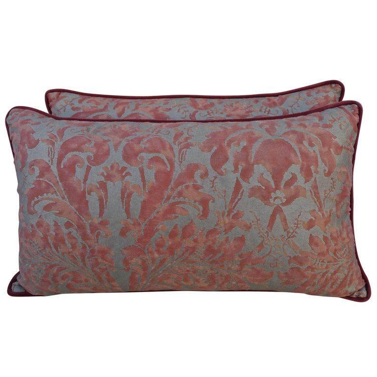 Pair of Lucrezia Patterned Fortuny Pillows $795