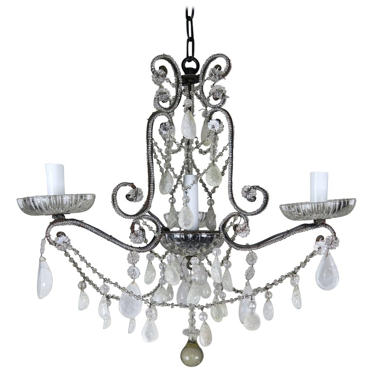 Rock Crystal Beaded Four-Light Chandelier $2,500