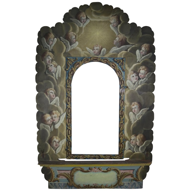 19th Century Italian Painted Frame with Cherubs $6,500