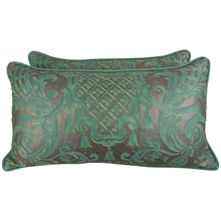 Pair of Peacock Carnavalet Fortuny Textile Pillows $1,200