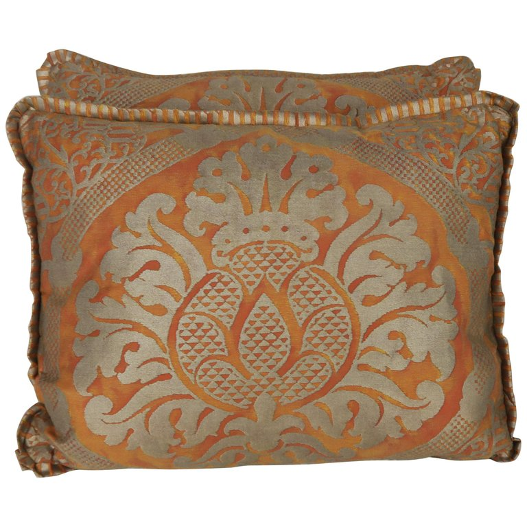 Pair of Italian Fortuny Accent Pillows $450