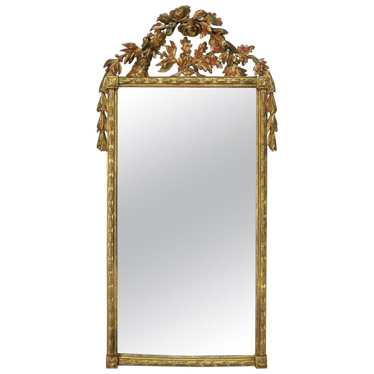 French Louis XV Style Rococo Giltwood Carved Mirror $1,650