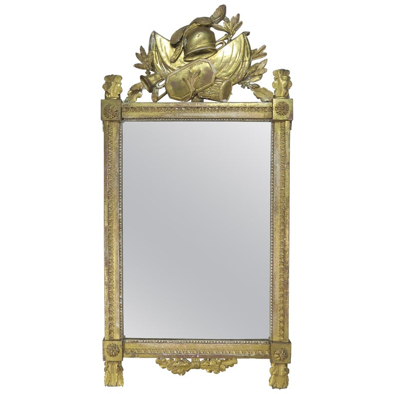 19th C. Spanish Gilt Wood Carved Mirror w: Coat of Arms $3,800
