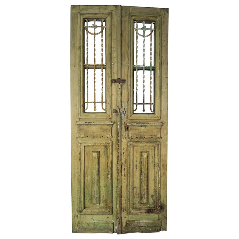 19th Century French Iron and Wood Doors, Pair $3,800