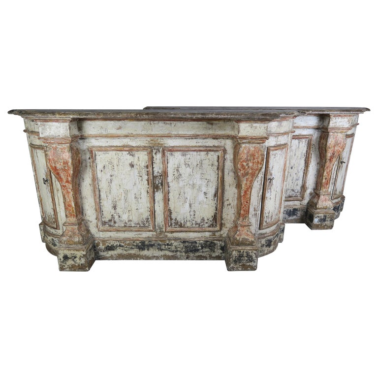 Pair of Early 19th Century Italian Tuscan Style Painted Sideboards $18,000