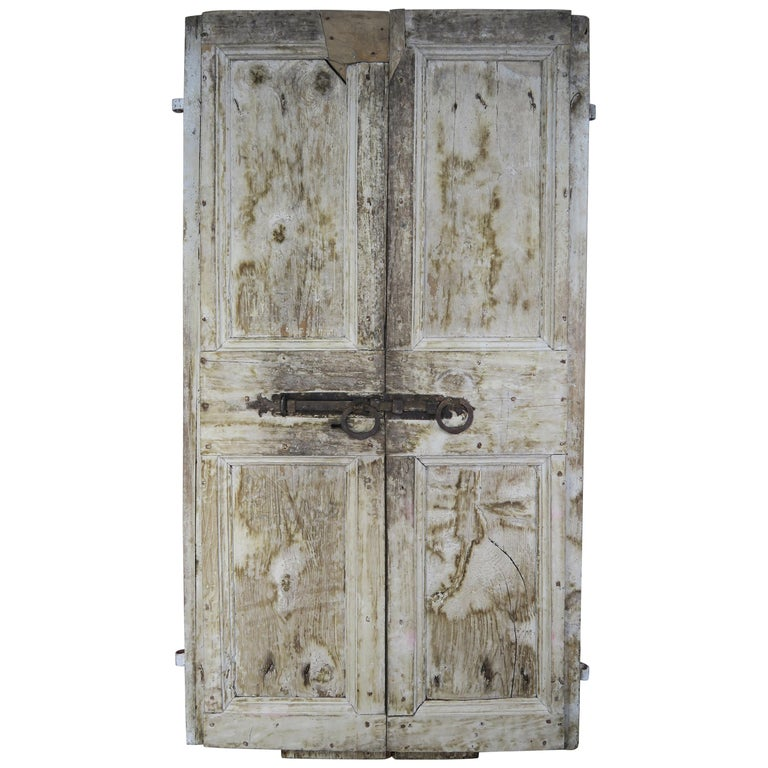 Pair of Painted Swedish Doors w: Original Iron Hardware $3,800