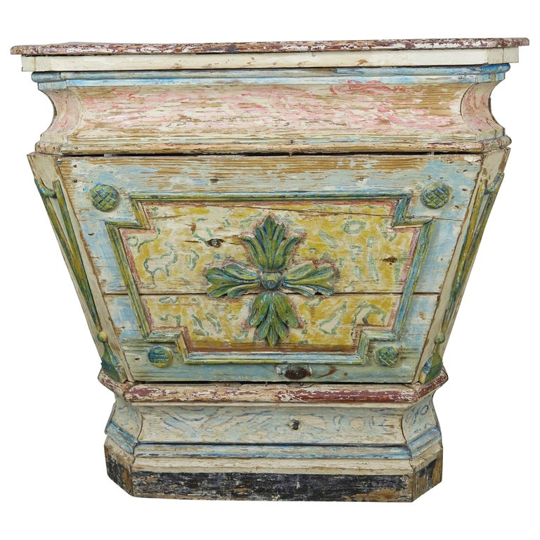19th C. italian Painted Altar Table $2,800