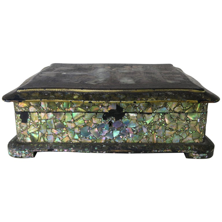 Abalone and Mother of Pearl Jewelry Box, circa 1880s $1,250