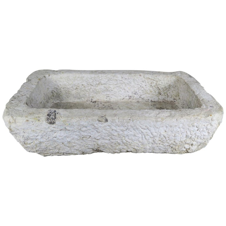 Hand Carved 19th Century French Limestone Sink $3,800