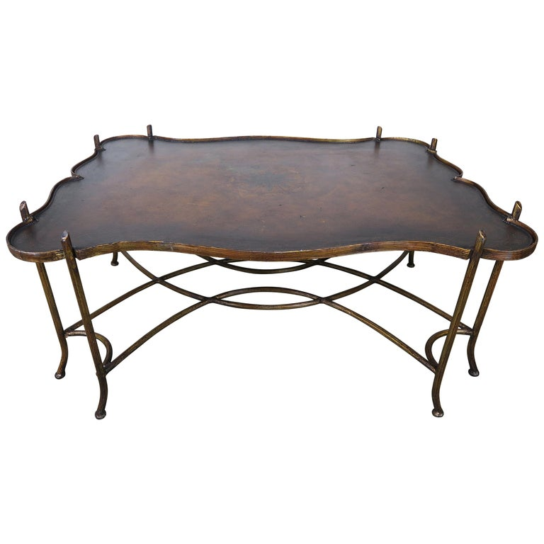 Hand Painted Wood & Metal Coffee Table $1,800