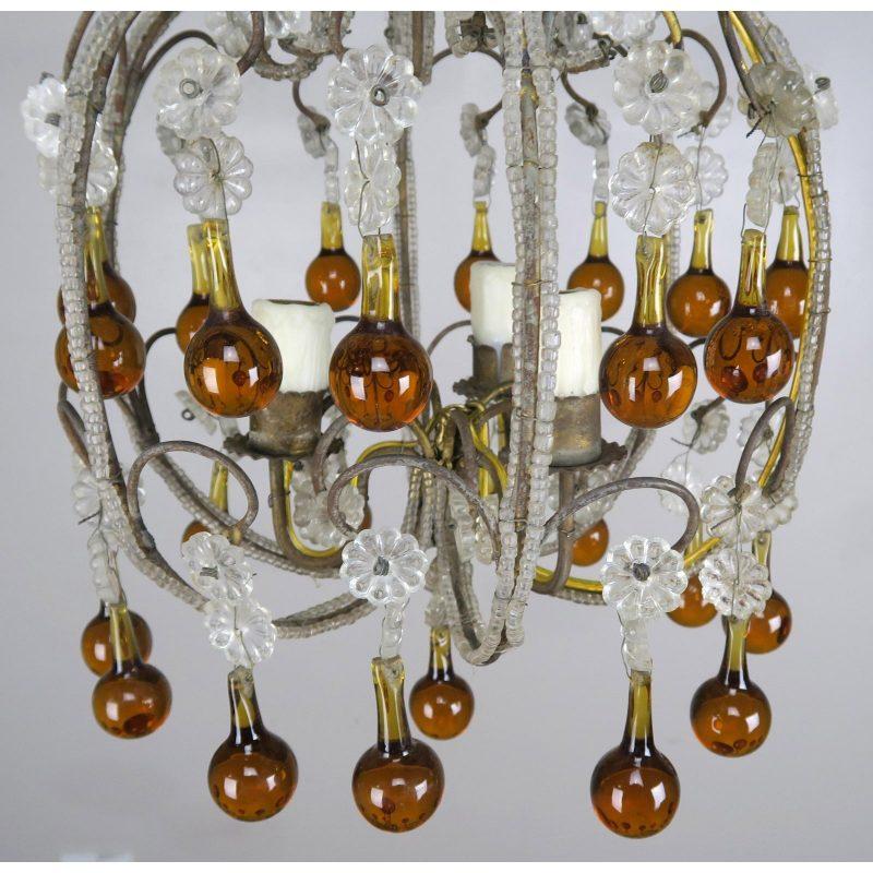 amber-drop-crystal-beaded-chandelier-3699