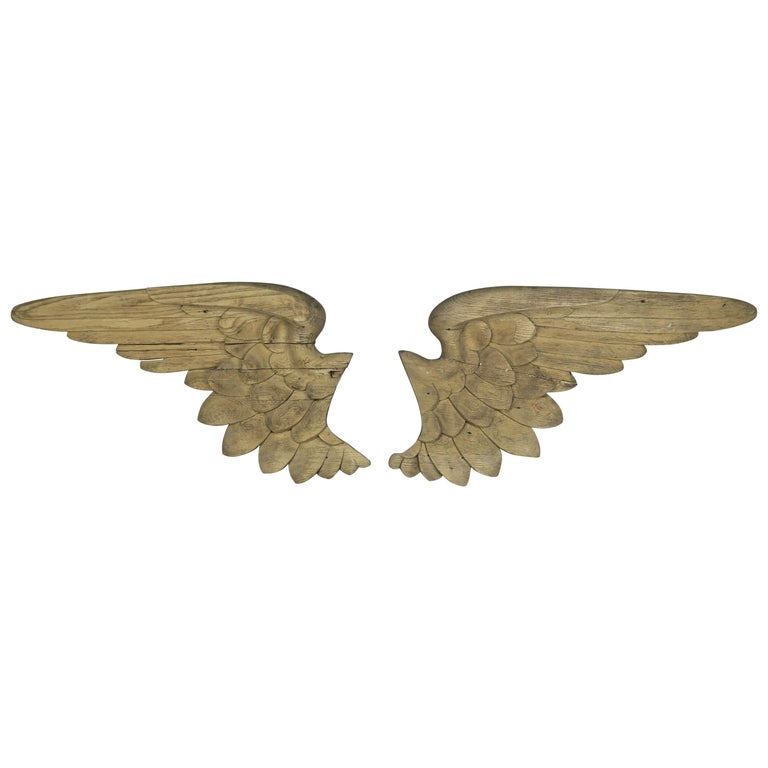 19th Century Italian Carved Angel Wings, Pair $4,800