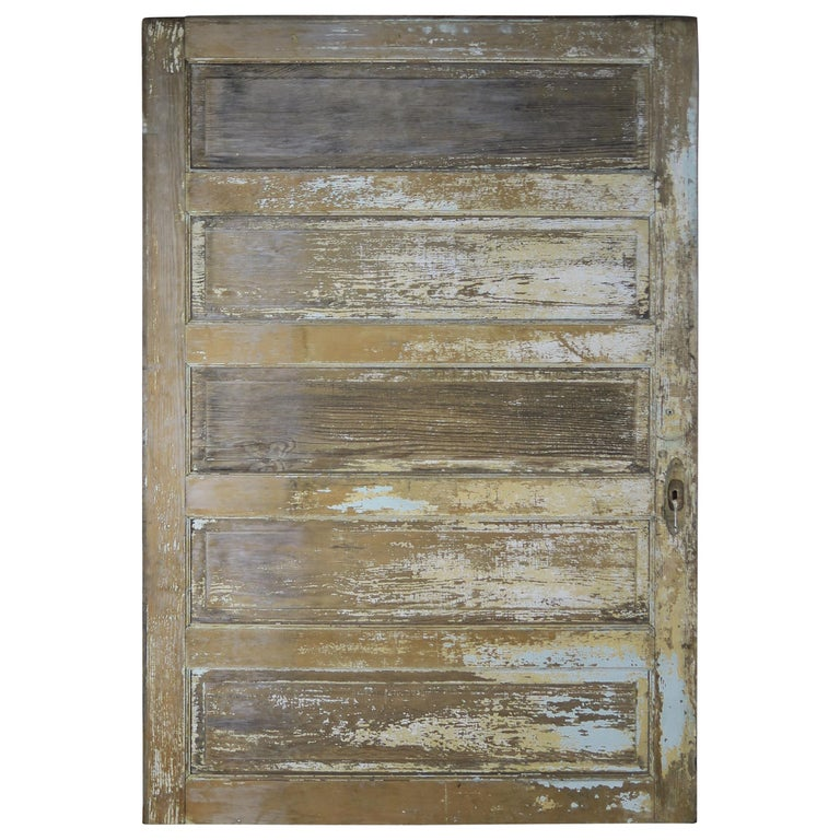 19th Century French Painted Barn Door $3,500