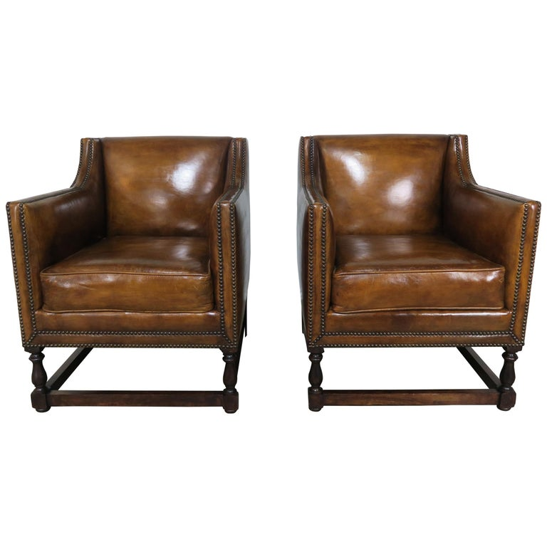 Custom Leather Armchairs by Melissa Levinson $6,800