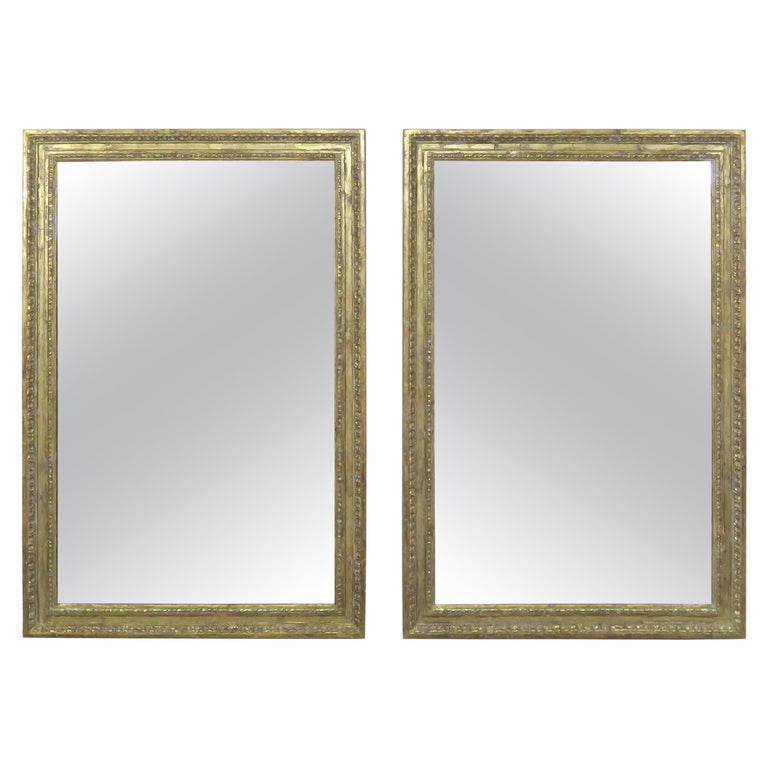 Pair of 22-Karat Gold Leaf Carved Mirrors by Melissa Levinson $4,80