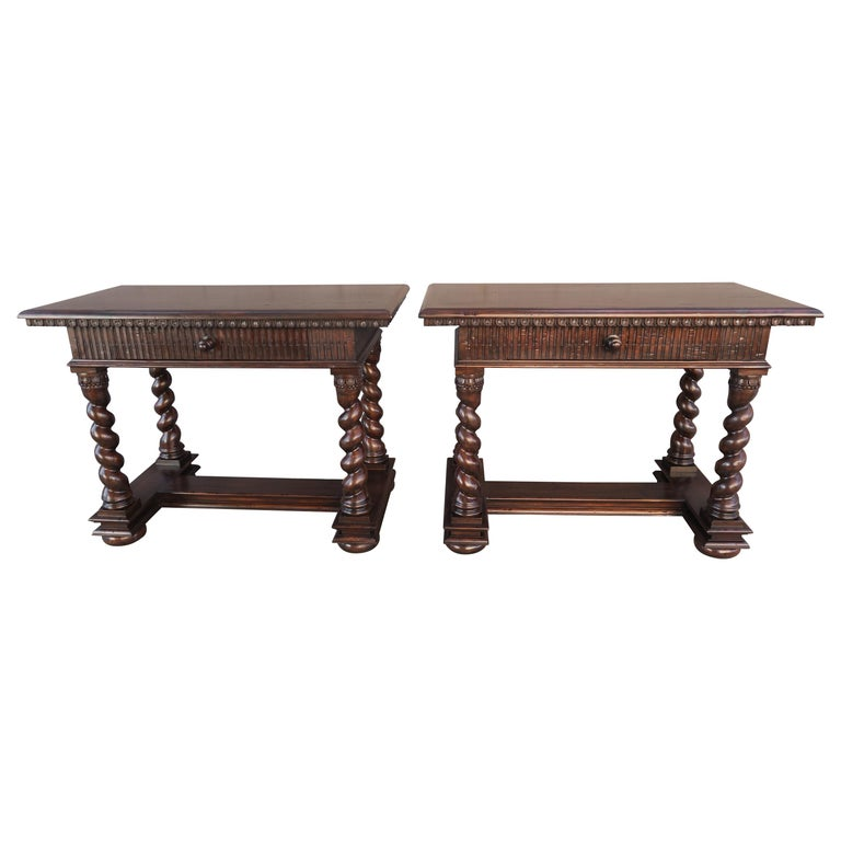 Pair of Spanish Baroque Style Bedside Tables with Drawers $4,800