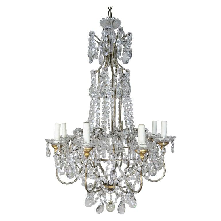 8-Light Italian Crystal Beaded Chandelier $3,800