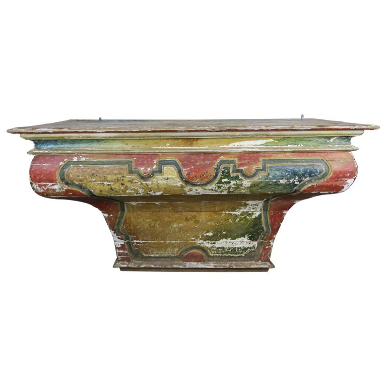 Early 19th Century Spanish Painted Alter Table $6,800