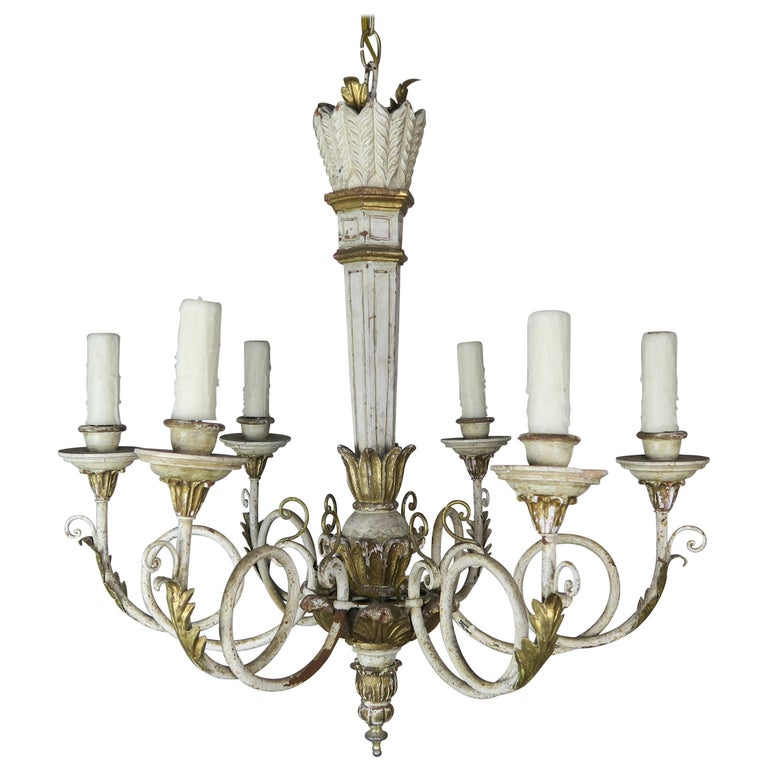 Italian Painted and Parcel-Gilt Neoclassical Style Chandelier $1,850