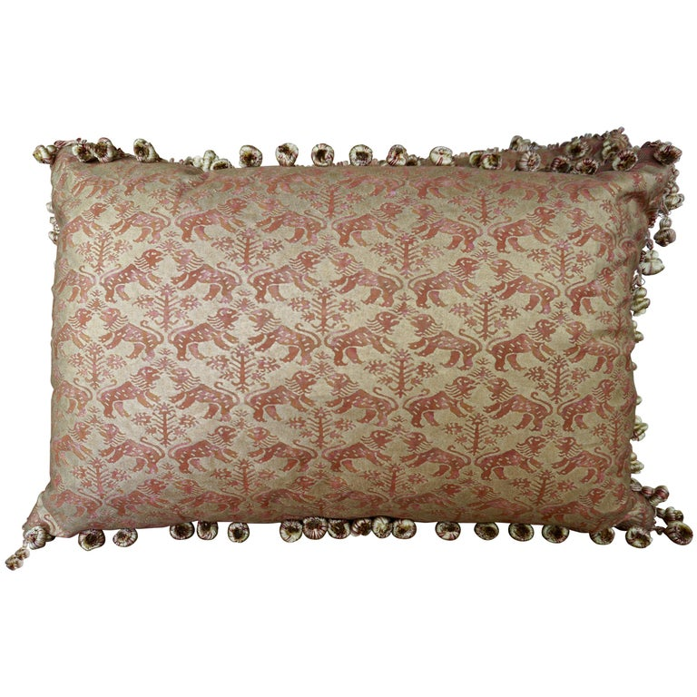 Pair of Custom Richeleau Patterned Fortuny Pillows $900