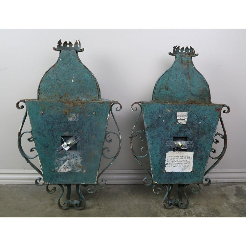 french-louis-xv-style-painted-wrought-iron-lantern-sconces-pair-5030