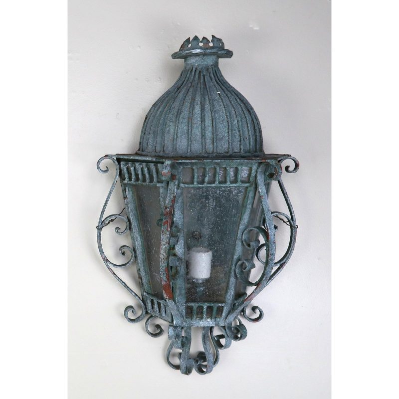 french-louis-xv-style-painted-wrought-iron-lantern-sconces-pair-6020