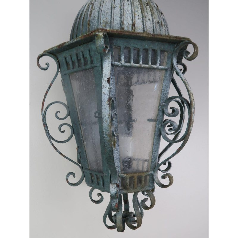 french-wrought-iron-painted-lantern-sconce-0874