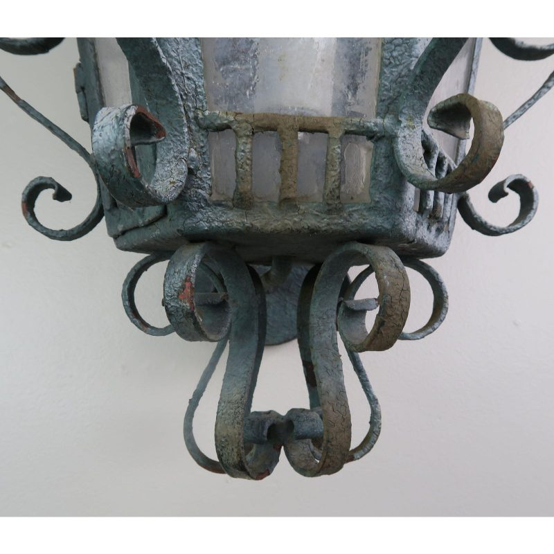 french-wrought-iron-painted-lantern-sconce-3118