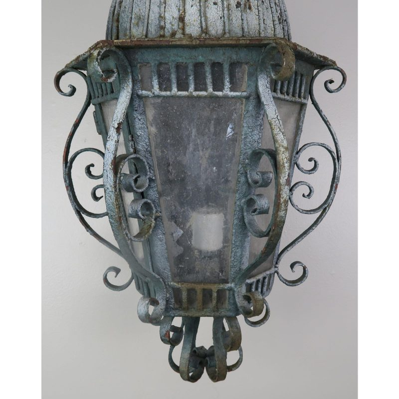 french-wrought-iron-painted-lantern-sconce-9459