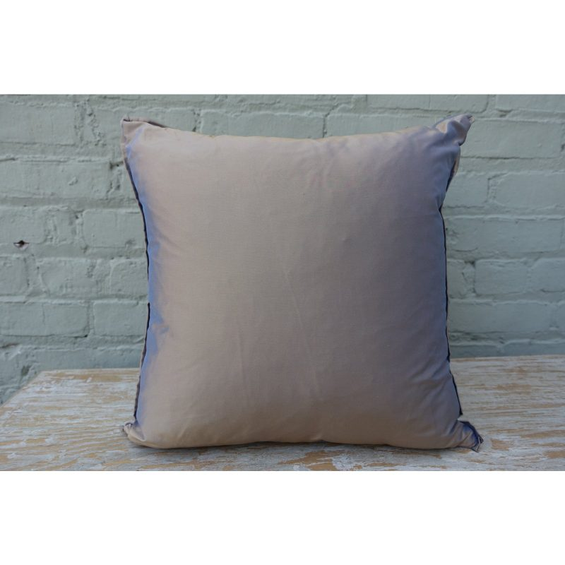 Blue Teal and Gold Stenciled Linen Pillows - A Pair Price-$295d
