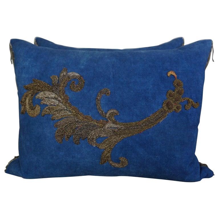 Pair of 19th Century Metallic Applique Pillows by Melissa Levinson $2,995