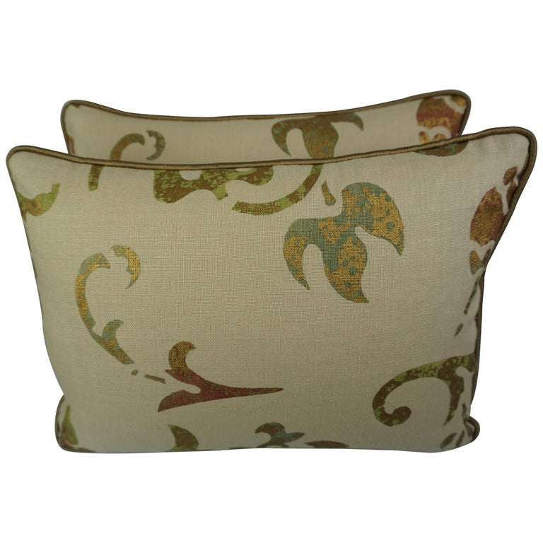 Pair of Petite Nomi Stenciled Pillows $350