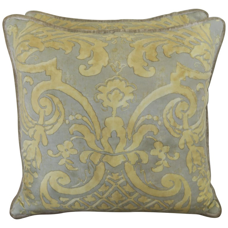 Vintage Carnavalet Fortuny Textile Pillows, a Pair $950