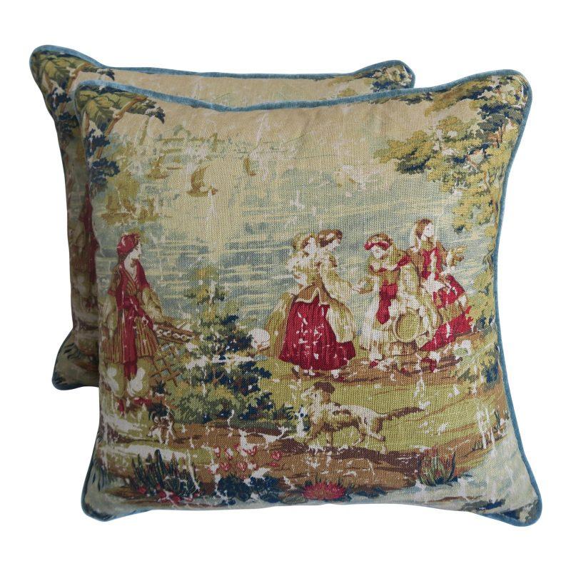 figural-printed-linen-pillows-pair-7528