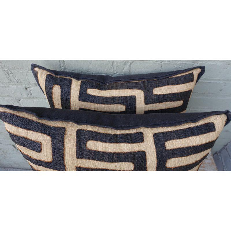 large-square-black-and-tan-african-kuba-cloth-pillows-pair-0030