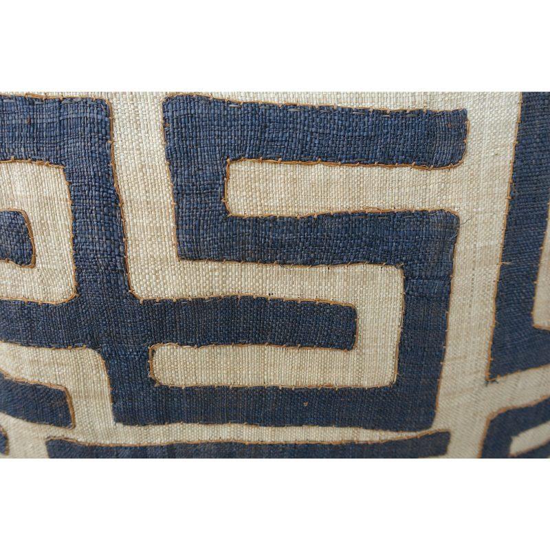 large-square-black-and-tan-african-kuba-cloth-pillows-pair-0277