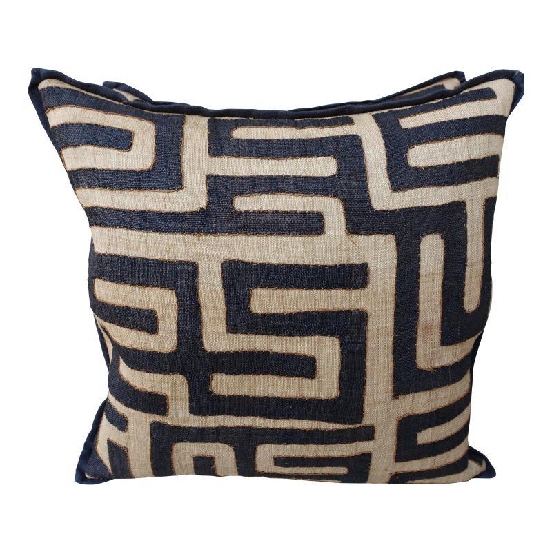 large-square-black-and-tan-african-kuba-cloth-pillows-pair-2264
