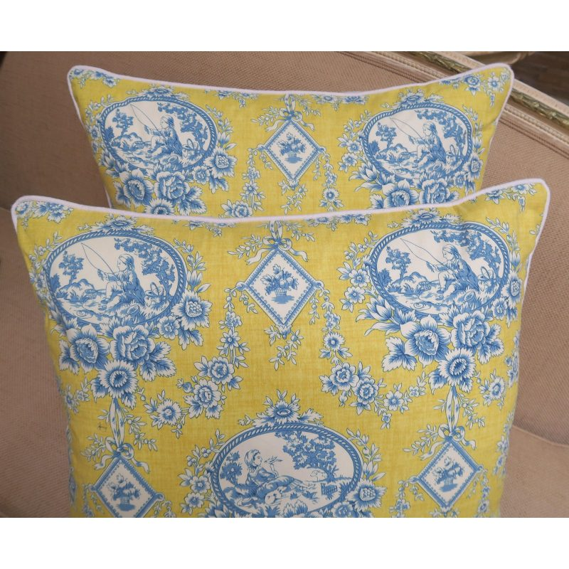 pair-of-blue-and-yellow-toile-printed-pillows-2863