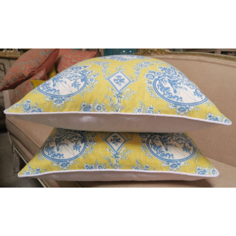 pair-of-blue-and-yellow-toile-printed-pillows-4795