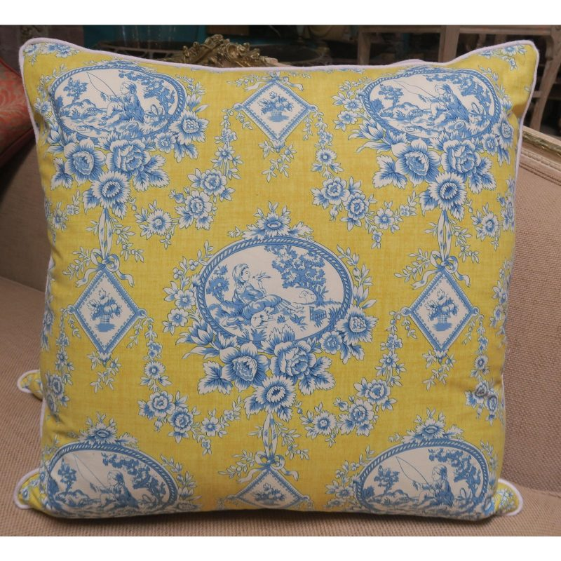 pair-of-blue-and-yellow-toile-printed-pillows-5264