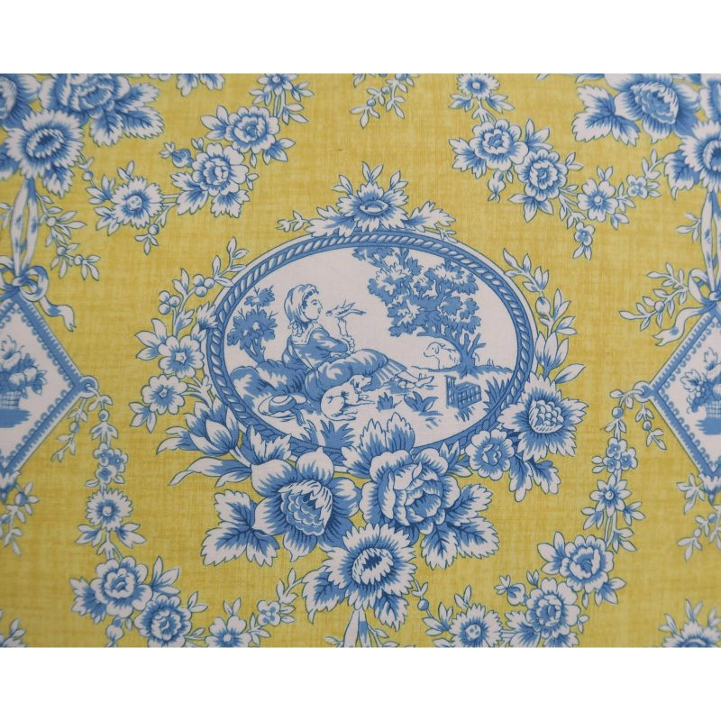 pair-of-blue-and-yellow-toile-printed-pillows-7319