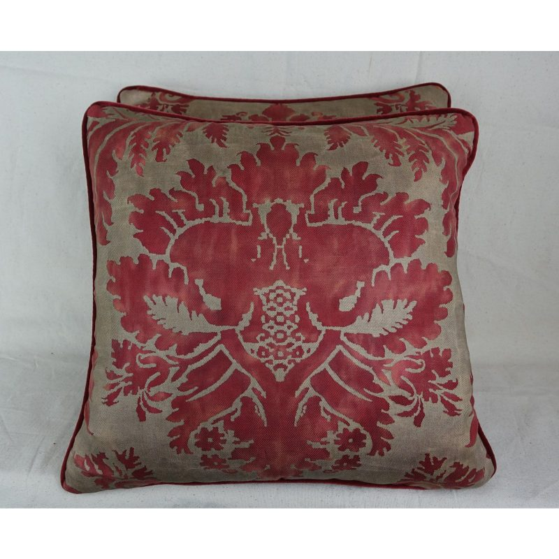 red-and-metallic-gold-fortuny-pillows-pair-8386